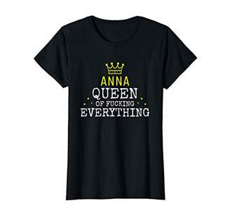 IDEA Womens Funny Name Personalized Dress Birthday Gift Anna T-Shirt