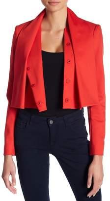 Alice + Olivia Adair Tie Neck Crop Jacket