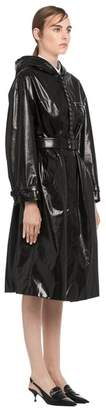 Prada Hooded Leather Trench Coat