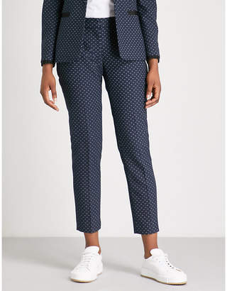 Claudie Pierlot Polka dot jacquard trousers