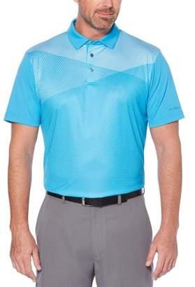 Hogan Ben Big Men's Performance Short Sleeve Printed Golf Polo
