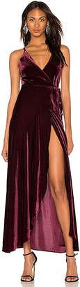 Yumi Kim Rush Hour Velvet Maxi Dress