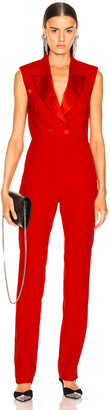 MSGM Enverse Satin Jumpsuit in Red | FWRD