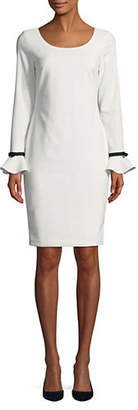 Calvin Klein Ruffled Cuff Shift Dress