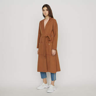 Maje Long double-face wool coat