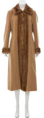 Max Mara Mink-Trimmed Wool Coat