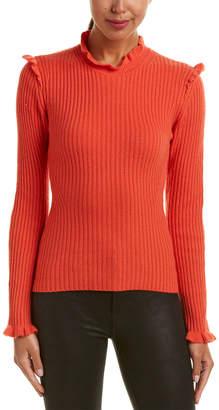 Derek Lam 10 Crosby Ruffled Cashmere Sweater