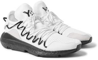 Y-3 Kusari Suede-Trimmed Mesh Sneakers