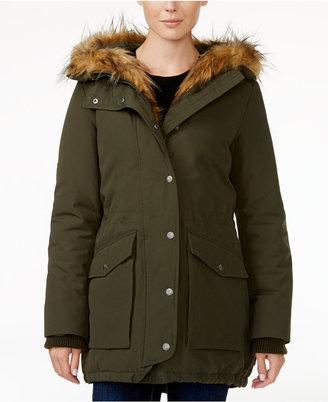Levi's Faux-Fur-Trim Hooded Parka $250 thestylecure.com