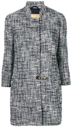 Fay tweed flip-lock coat