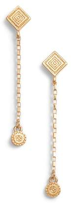 Rebecca Minkoff Etched Charm Drop Earrings