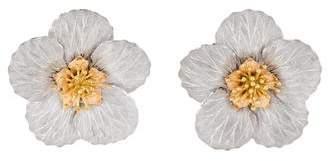 Buccellati 18K Blossoms Magnolia Clip-On Earrings