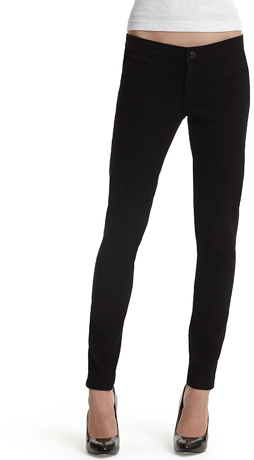 Paige Premium Denim Legging Jean in Black Wash
