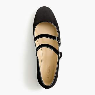 J.Crew Multistrap Mary Jane flats in suede