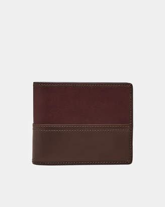 Fossil Tate Wine RFID Large Coin Pocket Bifold