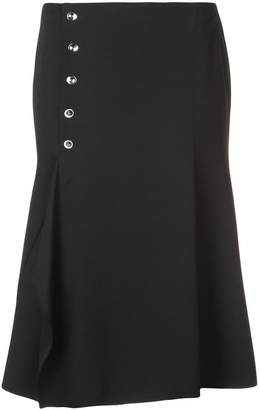 Narciso Rodriguez side buttons skirt