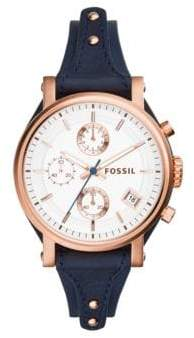 Fossil Original Boyfriend Leather Chronograph Watch
