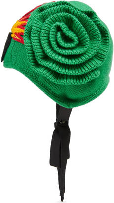 Knit hat with panther $425 thestylecure.com