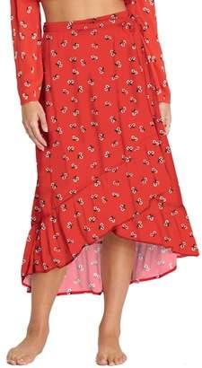 Billabong Dancing Til Dawn Print Wrap Skirt