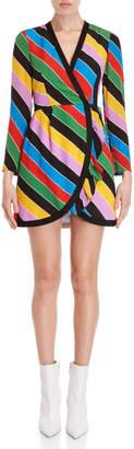 Philosophy di Lorenzo Serafini Rainbow Stripe Wrap Dress