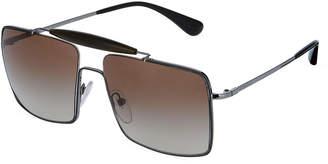 Prada Men's Square Metal Sunglasses