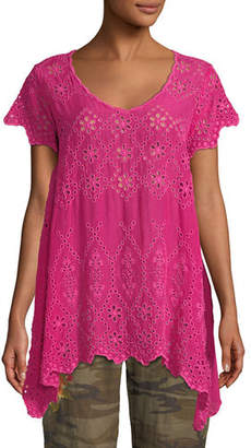 Johnny Was Pippa Eyelet Tunic, Petite