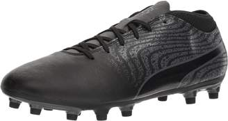Puma Men's One 18.4 FG Soccer-Shoes, Black Black-Asphalt, 12 M US
