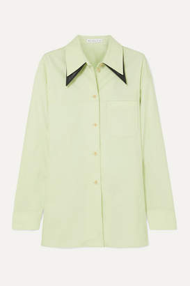 REJINA PYO Rory Oversized Cotton-blend Shirt - Mint