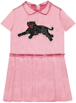 Children's silk dress with panther $1,250 thestylecure.com