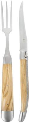 Laguiole Forge De Forge de Carving Knife & Fork - Olivewood Handle