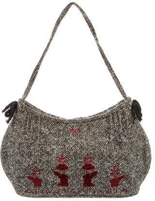 Anya HindmarchAnya Hindmarch Tweed Embroidered Bag