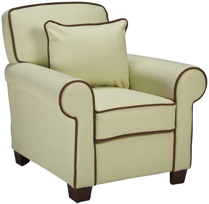 Child to Cherish Heirloom Chair Sage - Brown Piping (C)