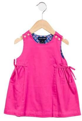 Ralph Lauren Girls' Sleeveless Tie-Accented Dress