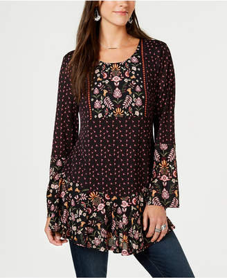Style&Co. Style & Co Mixed-Print Peasant Tunic, Created for Macy's