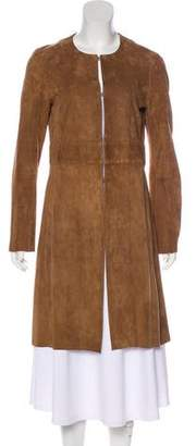 Theory Suede Knee-Length Coat