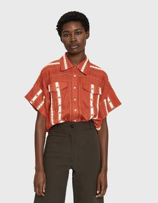 Need Callie Cropped Stripe Shirt