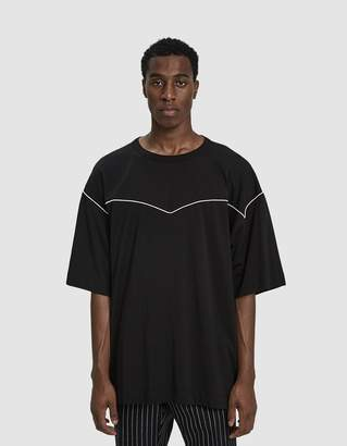 Dries Van Noten S/S Crewneck Tee in Black/Ecru