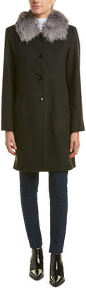 Sofia Cashmere Sofiacashmere Wool-Blend Car Coat