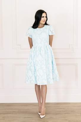 Rachel Parcell Floret Organza Dress in French Blue