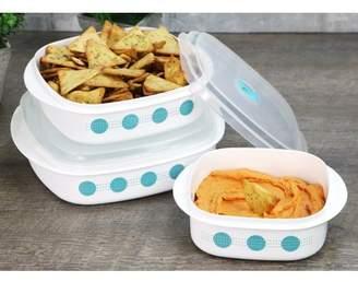 South Beach Corelle Coordinates 6-Piece Microwave Safe Cookware/Storage Set,