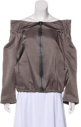 Lanvin Cropped Three-Quarter Sleeve Jacket