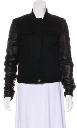 Alexander Wang Denim Leather Jacket