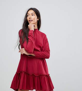Asos Tall TALL Washed Mini Dress with Ruffle Hem