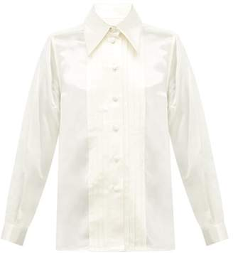 Marc Jacobs Pleated Charmeuse Shirt - Womens - Ivory