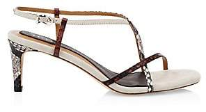 Joie Women's Malou Python-Embossed Leather Strappy Sandals