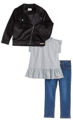 Hudson Moto Jacket, Tee & Jeans Set