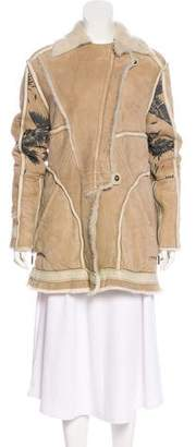 Just Cavalli Shearling Short Coat