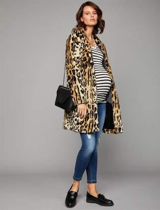 Tart Faux Fur Maternity Coat
