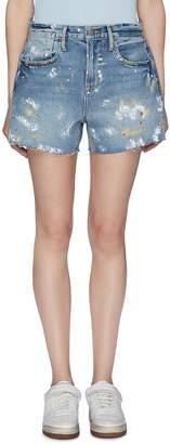 Frame 'Le Stevie' paint splatter denim shorts