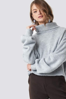 Hannalicious X Na Kd Knitted Polo Sweater Mauve